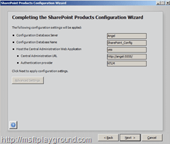 CompletingConfigurationWizard