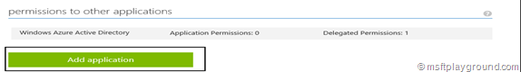 Add Azure Application Permission