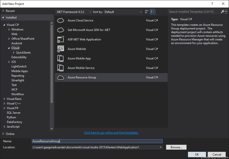 Starting with Azure Resource Templates - Microsoft Playground