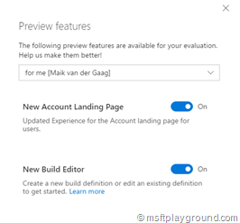 VSTS Preview Features