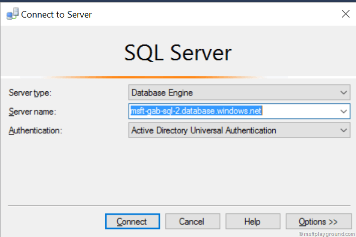 Part 1 – Azure SQL Database with Azure Active Directory