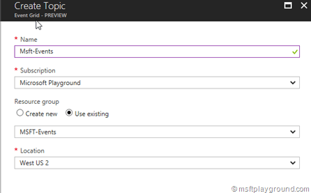Azure Event Grid Topic