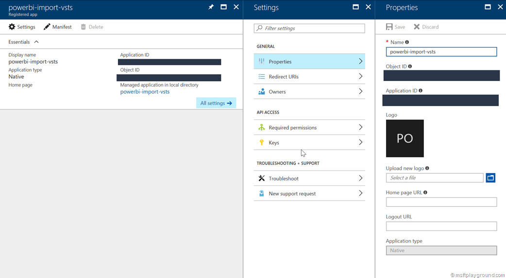 Azure Active Directory Application