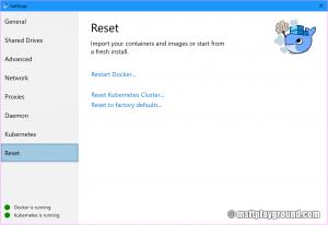 Docker Reset