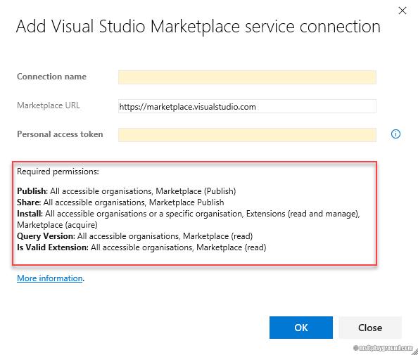 Marketplace service connection