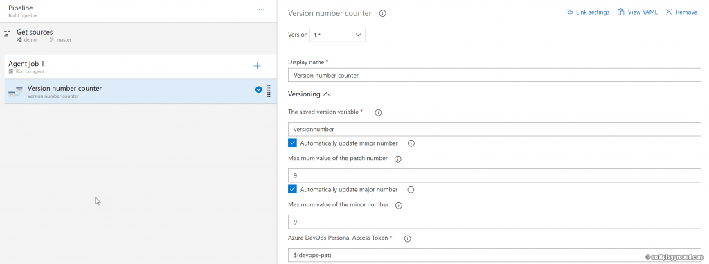 Azure DevOps - Version number counter