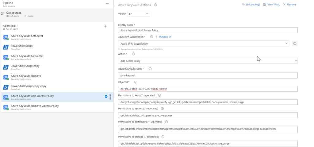 Azure Key Vault task