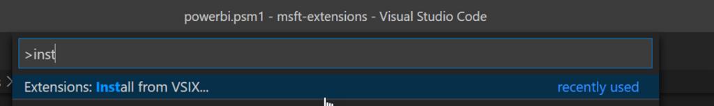 Install VSIX Visual Studio Code